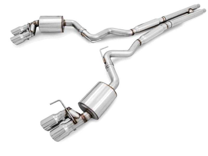 AWE Tuning S550 Mustang GT Cat-Back Exhaust - Touring Edition - GT350 Valance (No Tips) Hellhorse Performance