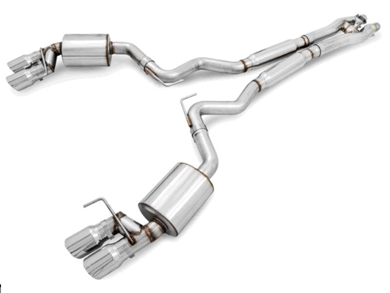 AWE Tuning S550 Mustang GT Cat-back Exhaust - SwitchPath - MPC Valance Hellhorse Performance