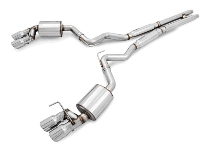 AWE Tuning S550 Mustang GT Cat-back Exhaust - Touring Edition - MPC Valance Hellhorse Performance