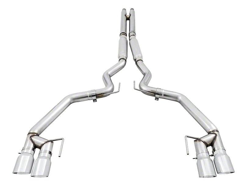 AWE Tuning S550 Mustang GT Cat-back Exhaust - Track Edition - MPC Valance Hellhorse Performance