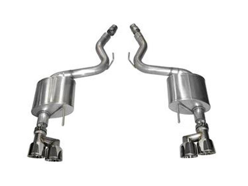 Corsa 15-16 Ford Mustang GT 5.0 3in Axle Back Exhaust Quad Tips (Sport) Hellhorse Performance