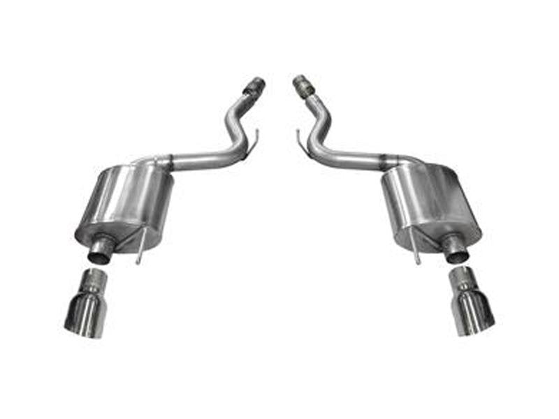 Corsa 2015 Ford Mustang GT 5.0 3in Axle Back Exhaust Polish Dual Tips (Touring) Hellhorse Performance