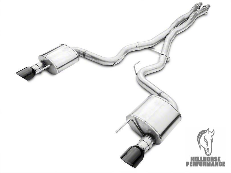 Corsa Xtreme Cat-Back Exhaust - Black Tips (15-17 GT) Corsa