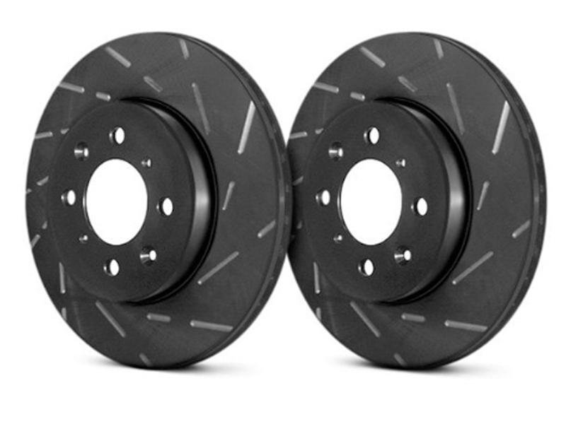 EBC 2015+ Ford Mustang (6th Gen) 2.3L Turbo USR Slotted Front Rotors Hellhorse Performance®