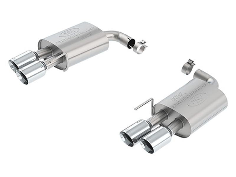 Ford Racing 2018 Mustang GT 5.0L Extreme Muffler Kit - Chrome Tips Hellhorse Performance®