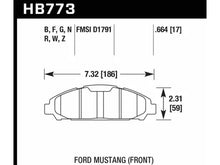 Load image into Gallery viewer, Hawk 15-17 Ford Mustang DTC-60 Front Brake Pads Hellhorse Performance