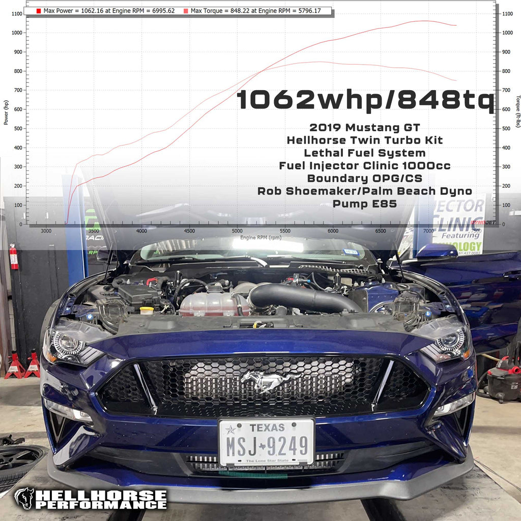 Hellhorse® Mid Mount Twin Turbo Kit - Tier 2 System- 1500+HP Rated (15-20 Mustang GT/GT350) Hellhorse Performance®
