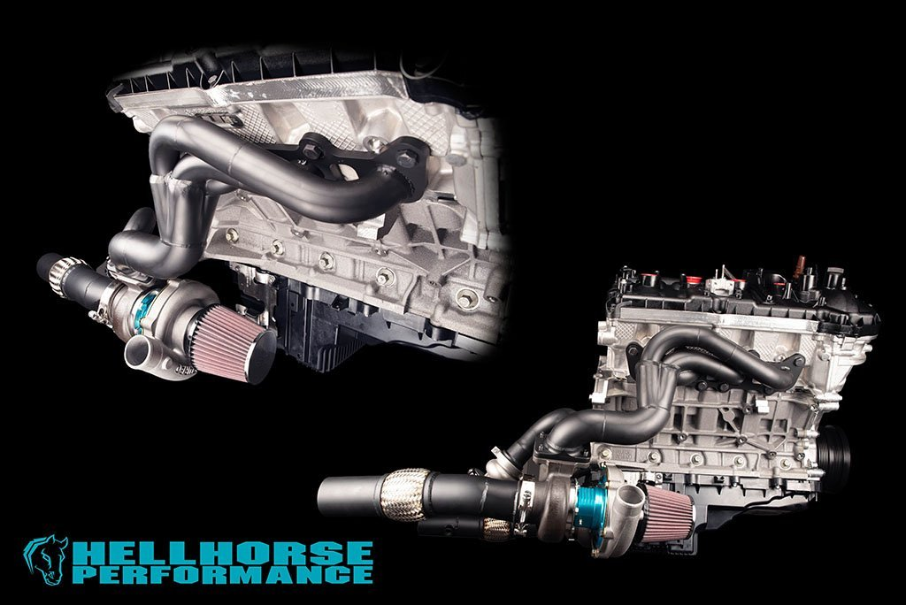 Hellhorse®Mid Mount Twin Turbo Kit - Tier 1 System- 2000+HP Rated (15-20 Mustang GT/GT350) Hellhorse Performance®