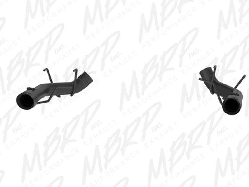 MBRP 2011-2014 Ford Mustang GT 3in Dual Axle Back Muffler Delete - Black Hellhorse Performance