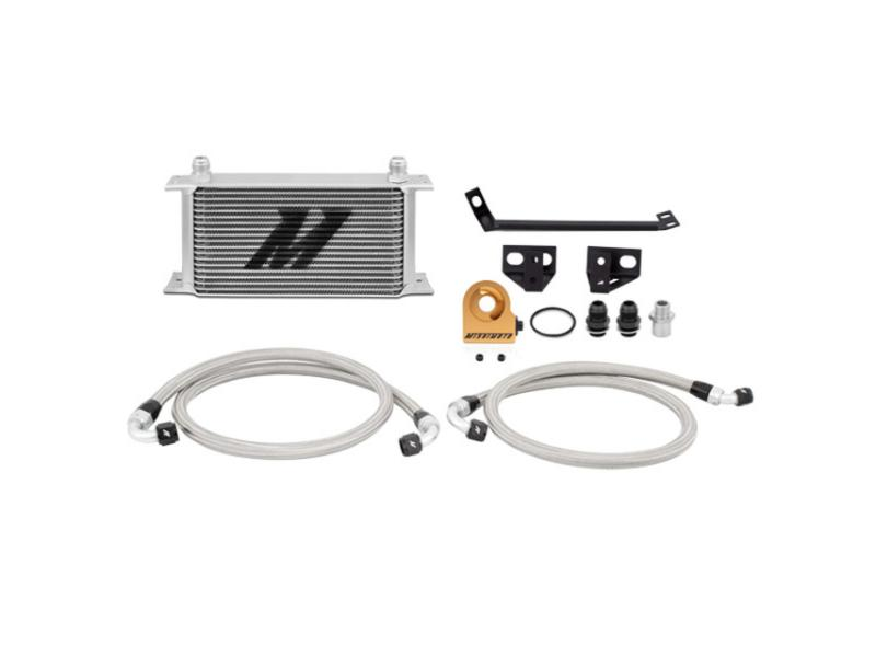 Mishimoto Oil Cooler Kit Silver Non Thermostatic (15-17 Mustang 2.3T) Mishimoto