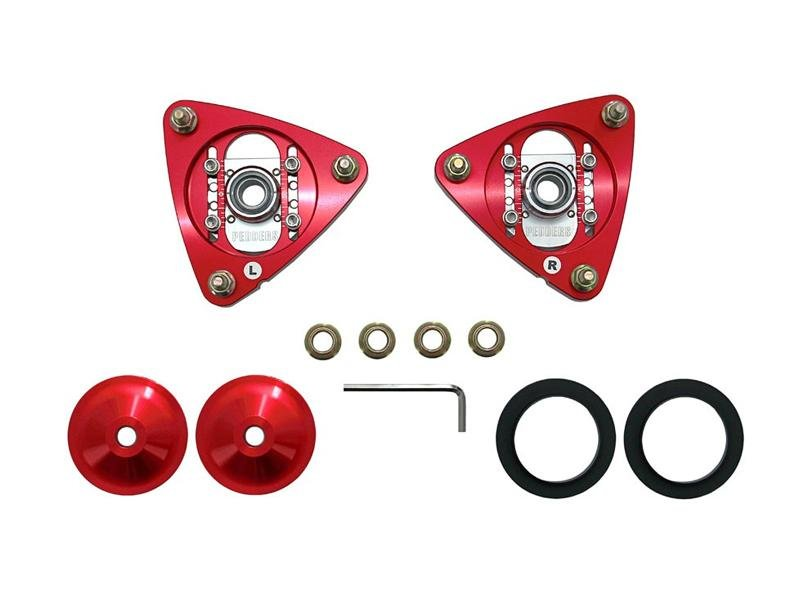 Pedders 2015+ Ford Mustang Front Strut Mount Adjustable Camber Plates (for Kit ped-160099) Hellhorse Performance