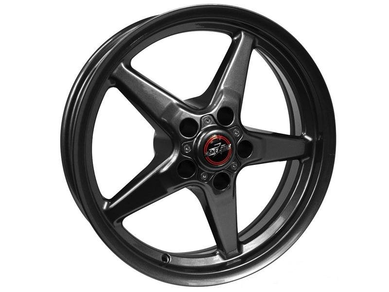 "Race Star Drag Wheel 17"" - Bracket Racer Metallic Gray Finish Hellhorse Performance"