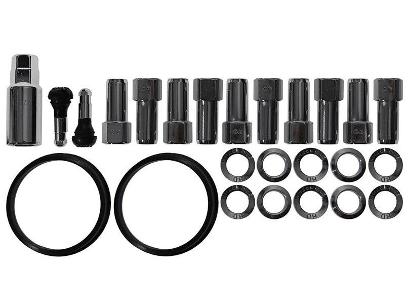 Race Star Industries End Lug Nut Kit for Direct Drilled Wheels - 14mm X 1.50 (Half Kit) Hellhorse Performance