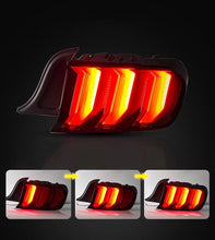 Load image into Gallery viewer, S550 Mustang Clear & Smoked Euro Tail Lamp LED Tail Light w/ Sequential Indicator & 5 Modes (15-20 Mustang) Hellhorse Performance®