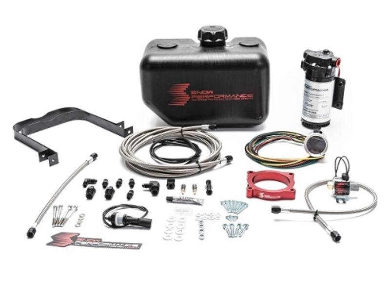 Snow Performance 11-17 Mustang Stg 2 Boost Cooler F/I Water-Methanol Inj. Kit (SS Braid Line & 4AN) Hellhorse Performance
