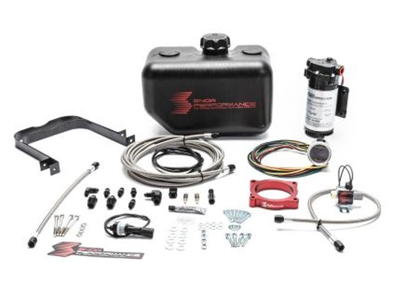 Snow Performance 15-17 Mustang EcB Stg 2 Boost Cooler Water-Methanol Inj. Kit (SS Braid Line & 4AN) Hellhorse Performance