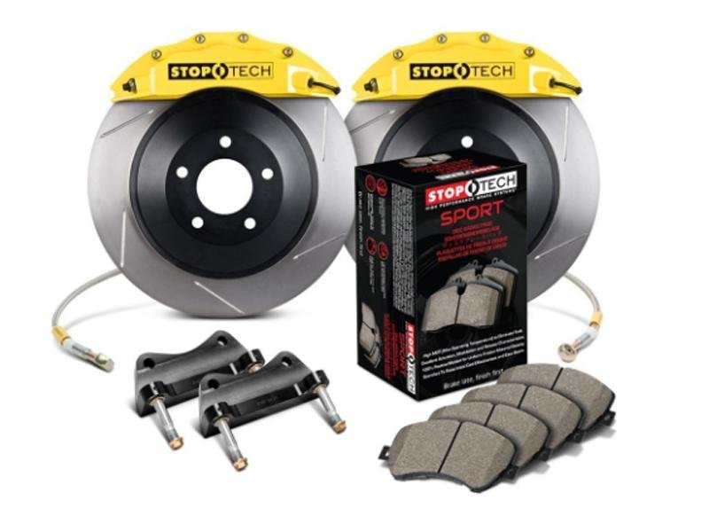 StopTech 15 Ford Mustang GT w/ Yellow ST-60 Calipers 360x32mm Slotted Rotors Front Big Brake Kit Hellhorse Performance