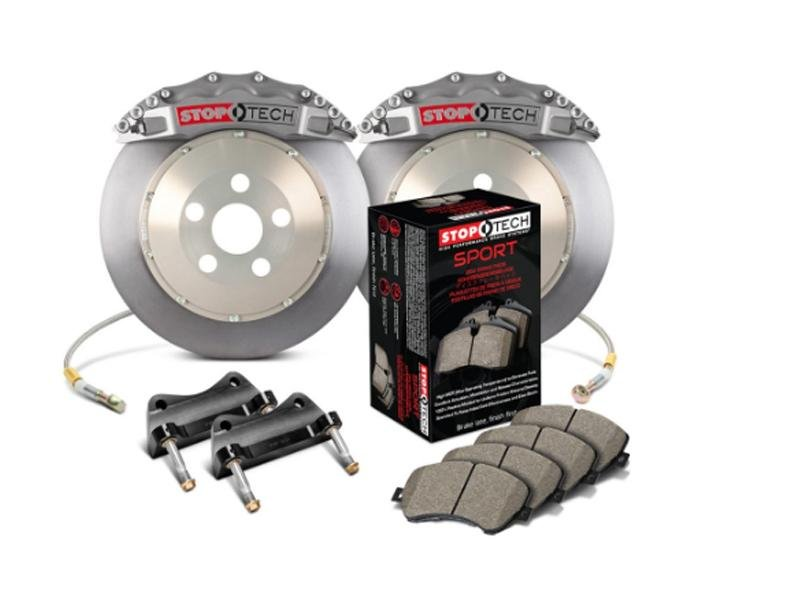 StopTech 2015 Ford Mustang GT Front BBK w/ Black ST-60 Caliper Upgrade Kit 360x32mm Rotors Hellhorse Performance