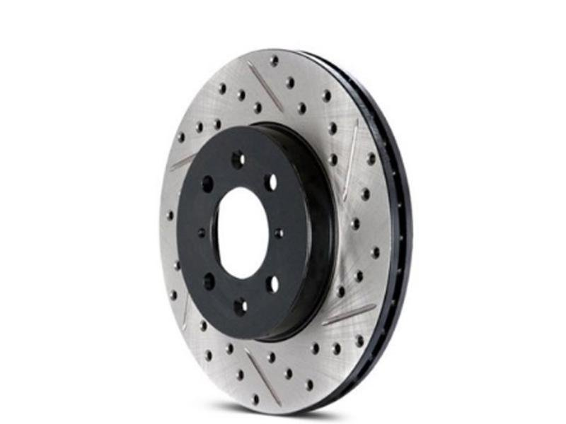 StopTech Cross Drilled Sport Brake Rotor - 2015 Ford Mustang - Rear Left Hellhorse Performance