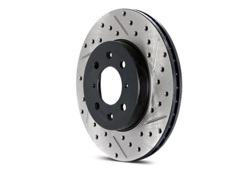 StopTech Slotted & Drilled Sport Brake Rotor - 2015 Ford Mustang GT Hellhorse Performance