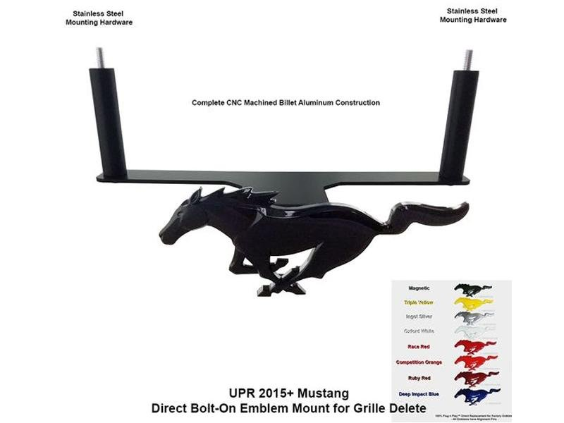 UPR Products 15-19 Mustang Pony Mounting Bracket White Platinum Emblem Hellhorse Performance®