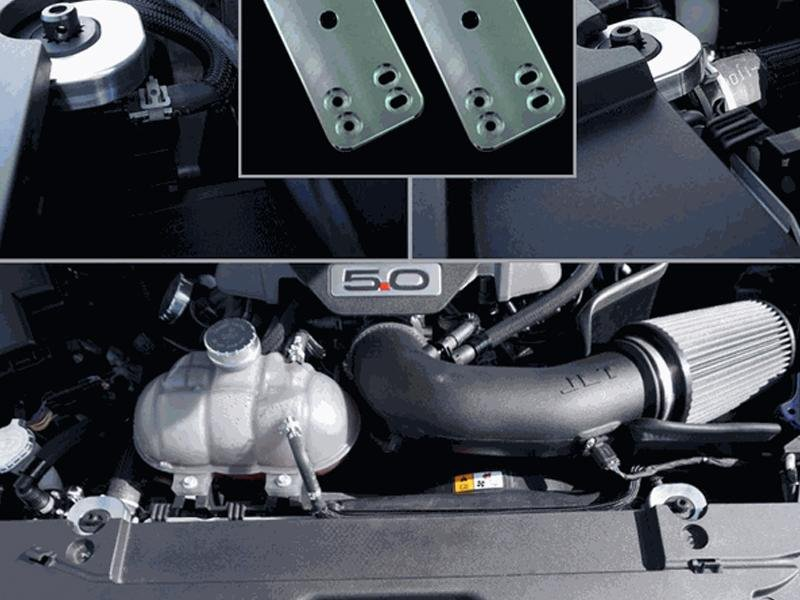 UPR Products Radiator Hold Down Kit Billet Satin (15-19 Mustang) Hellhorse Performance®