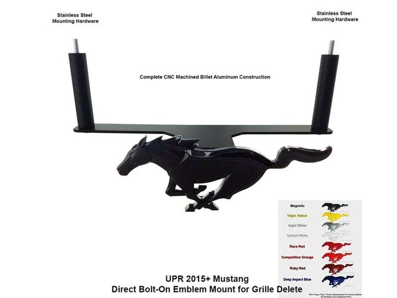 Upr Products 15-19 Mustang Pony Mounting Bracket Lightning Blue Emblem Hellhorse Performance®
