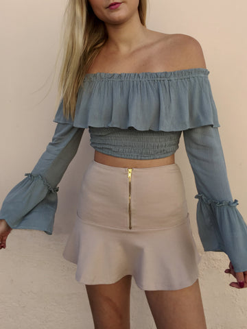 dream girl skirt in stone