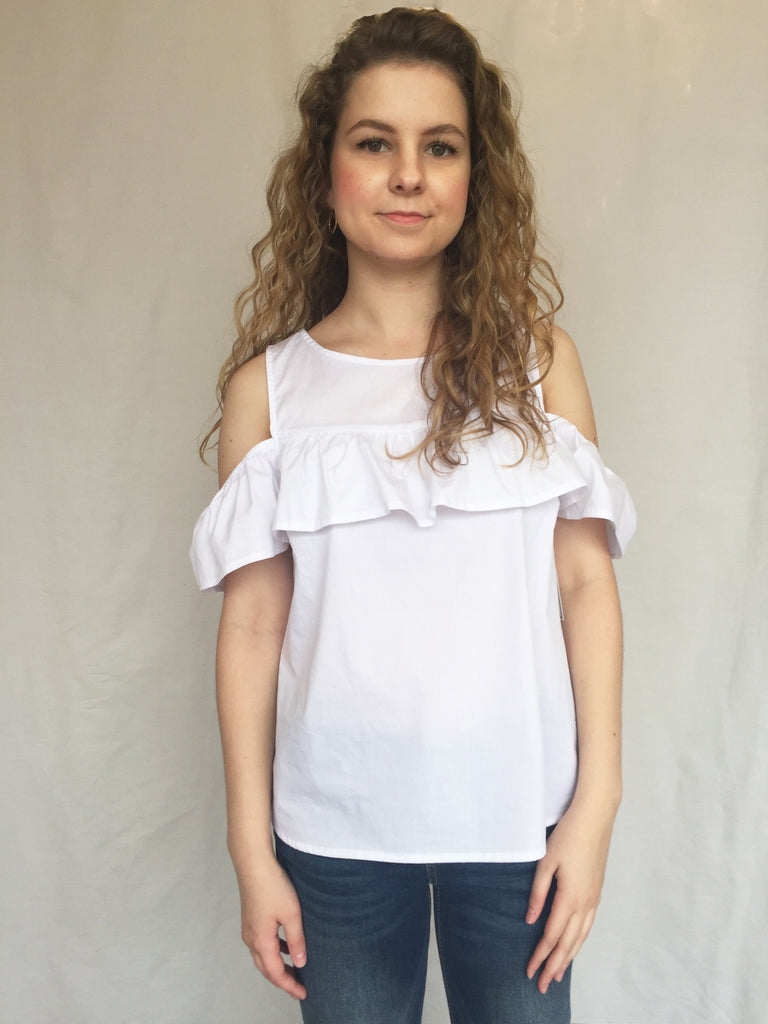 courtyard cold shoulder top