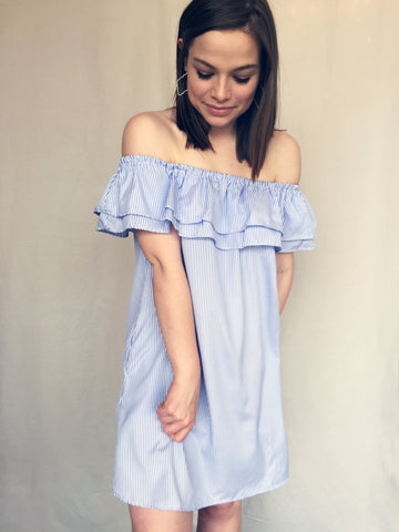 sea breeze off shoulder dress