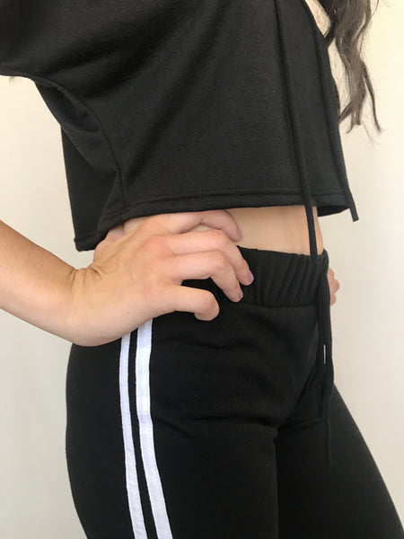 athletic stripe a pose sweat pants