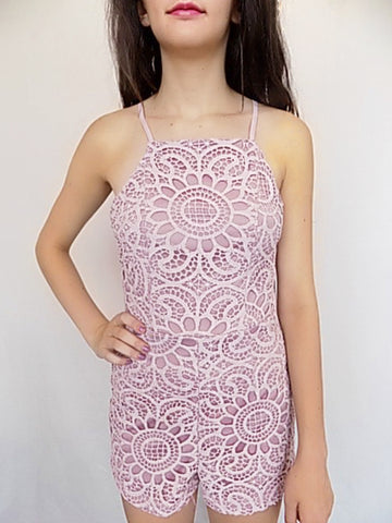 emergent bloom lace romper