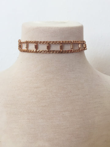 rising up rose gold choker