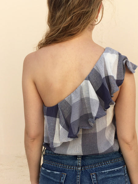 wanderlust one shoulder top