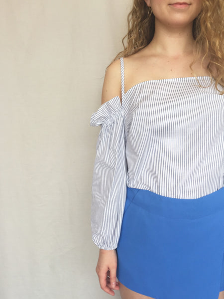 country club cold shoulder top