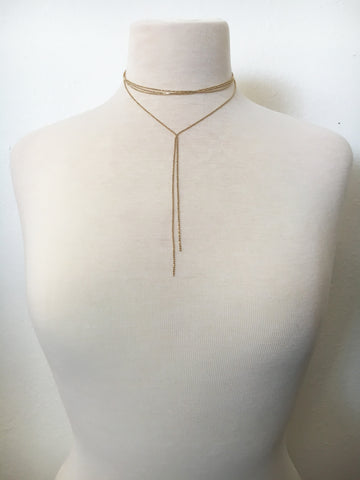a-list layered choker