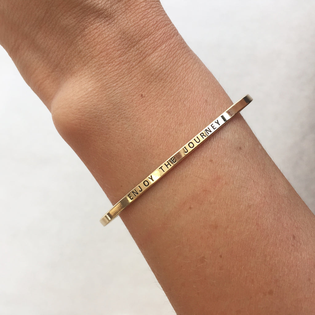 enjoy the journey bracelet