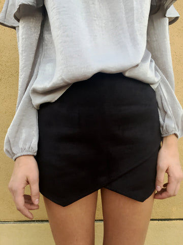 suede my way envelope skirt