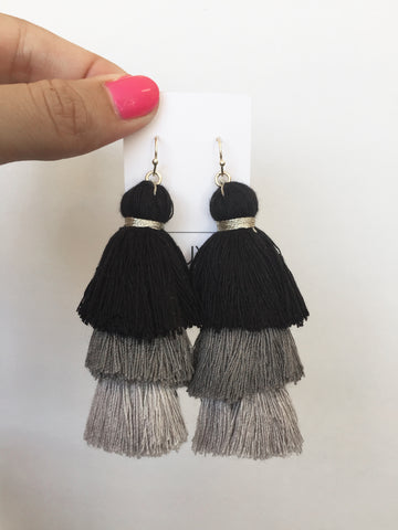 totally tiered tassel in greyscale