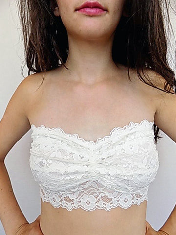 lace strapless bralette