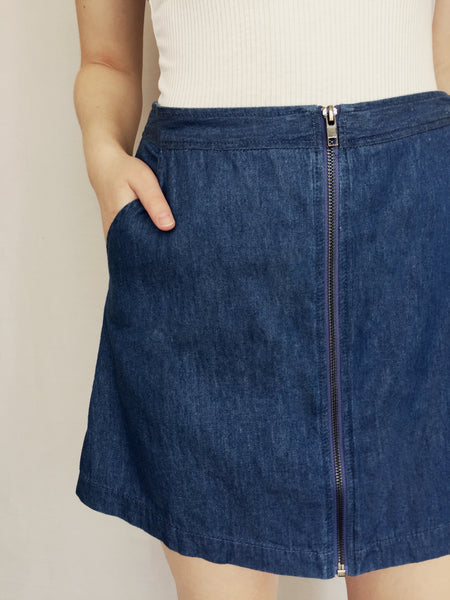 jump around denim skirt
