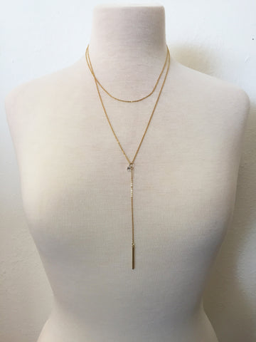 one and only layered lariat necklace