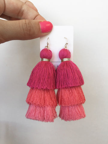 totally tiered tassel in pink ombre