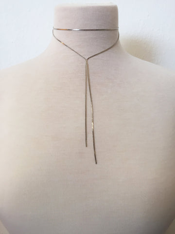 silver screen lariat choker