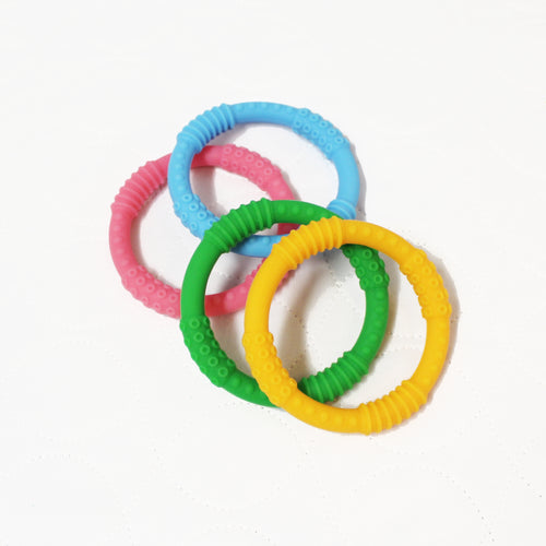 Silicone Teething Rings - Set of 4