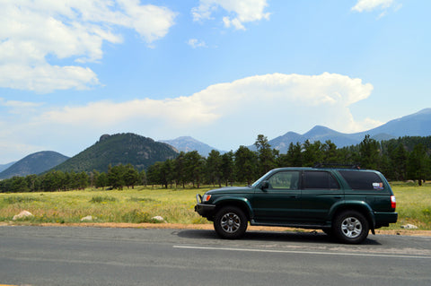4runner at the Rocky Mountains National Park