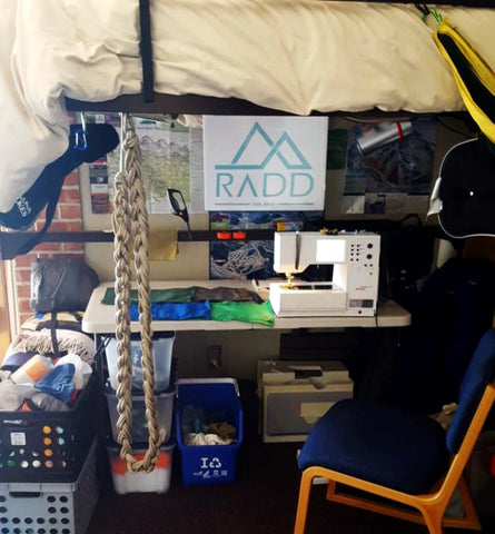 RADD was started with a hand-me-down sewing machine under a dorm room bed