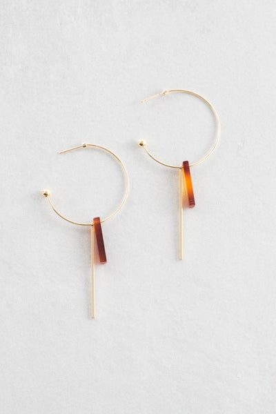 Gold Matchstick Hoops