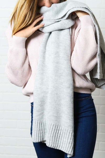 Gray Sweater Scarf