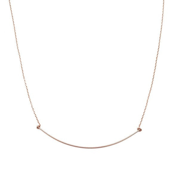 Rose Gold Willow Necklace